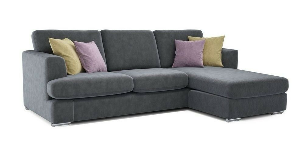 Grey Sofas For Sale Gumtree Dfs Grey Freya 4 Seater Lounger L Shaped Corner Sofa | In