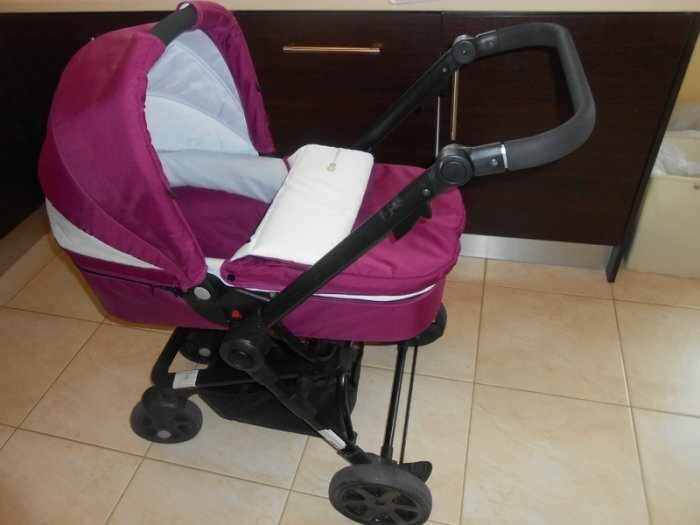 Mountain Buggy Duet Parent Facing Lovely Purple And White Pushchair Pram Buggy Travel Sytem