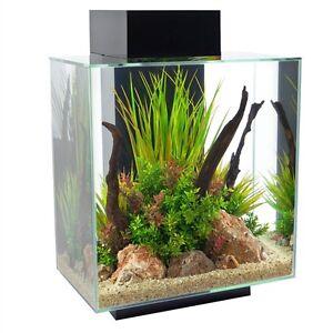 Fluval Edge Fish Tank Tropical Aquarium LEDs 23L   46L Black   White