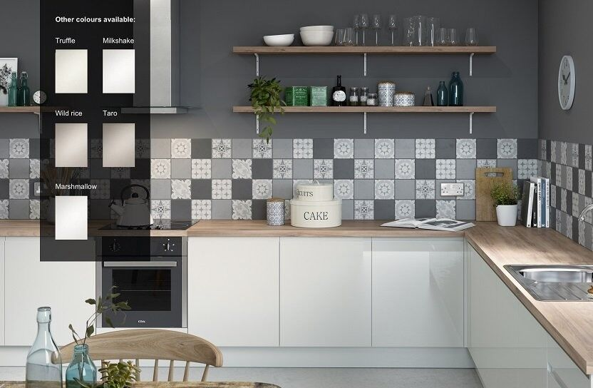 High Gloss White Kitchen Homebase Miller Kitchen In