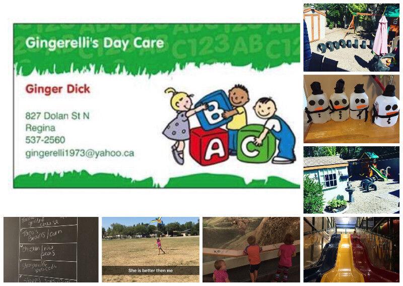 Gingerelli\u0027s Daycare September Openings Childcare  Nanny Regina