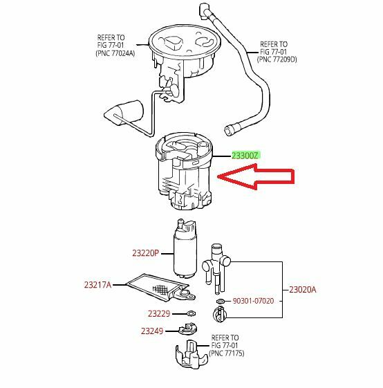 22re fuel filter you tube replace toyota truck