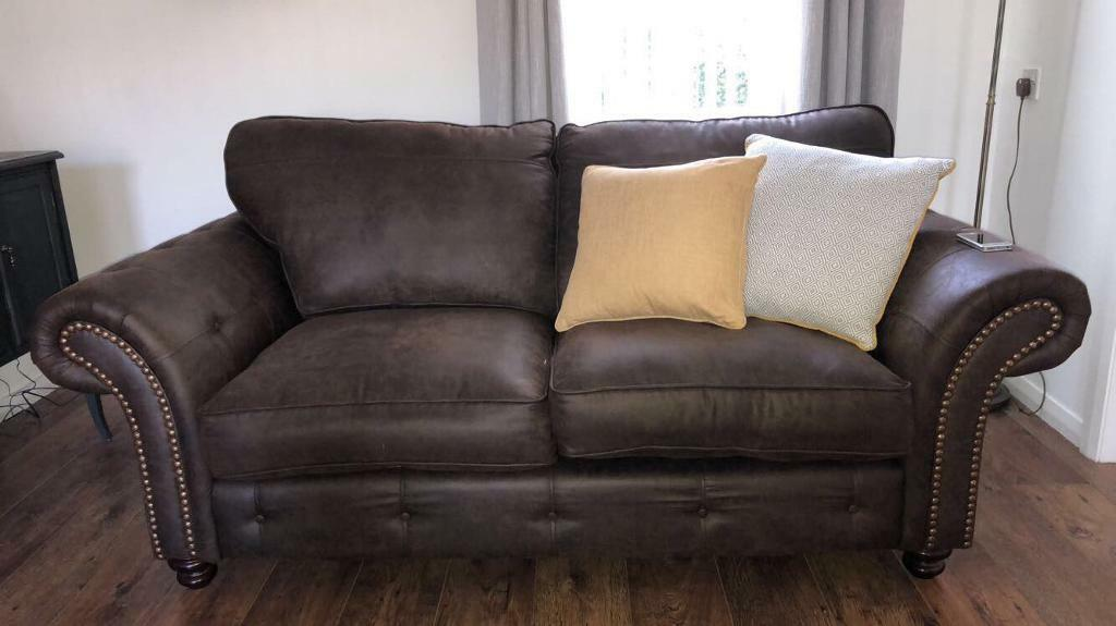 Grey Sofa Gumtree Belfast Dfs Kielder 2 Seater Formal Back Sofa Plus Arm Chair | In