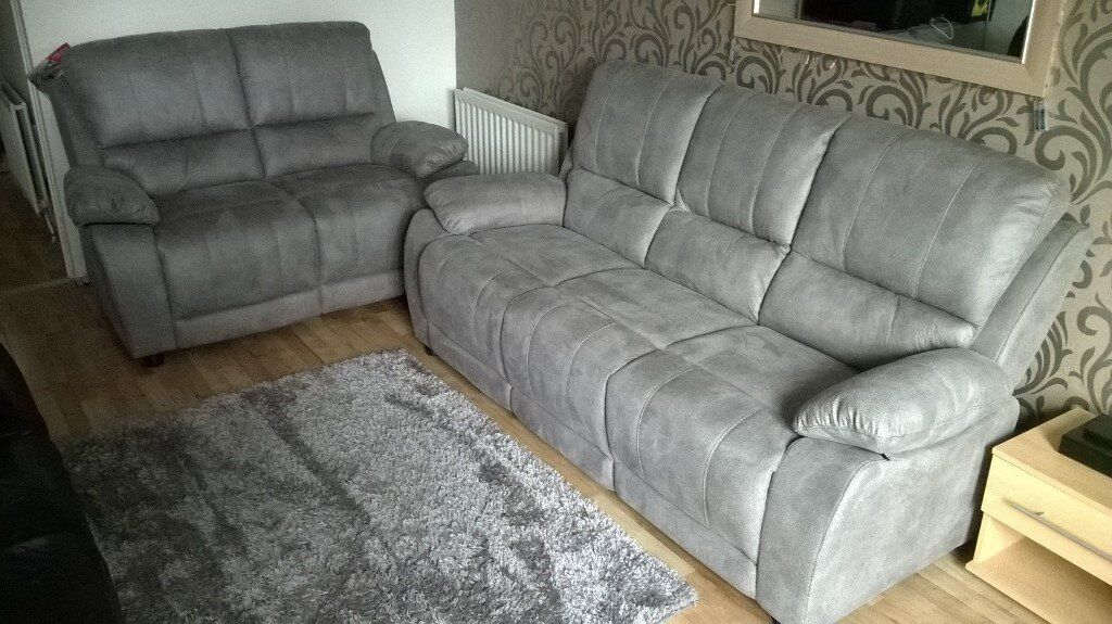 Harveys Sofas Gillingham Brand New!! Harveys Westchester 2 & 3 Seater Sofas, Grey
