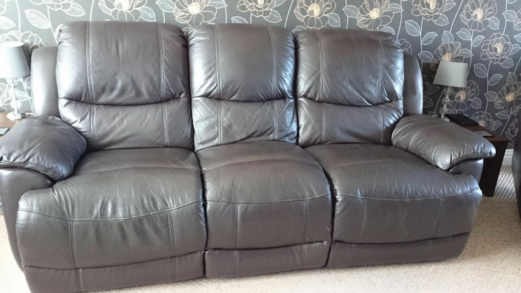 Harveys Ventura Sofa Harveys Ventura 3 Seater + 2 Seater Leather Recliner Sofas