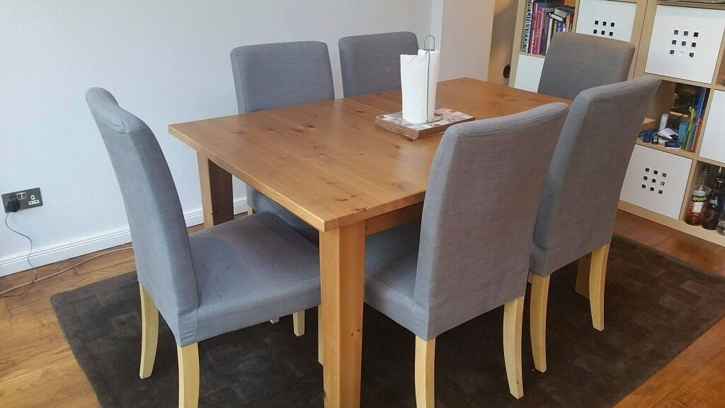 Ikea Stornas 1 Extension Leaf Dining Table With Ikea 6x