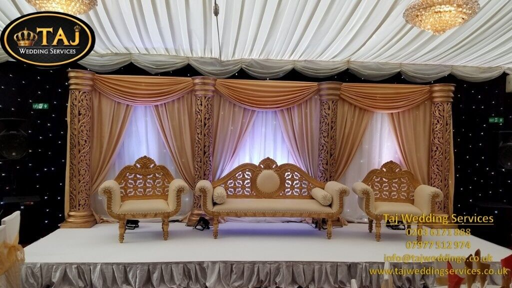 Asian Indian Wedding Decorations Mehndi Stages Flower