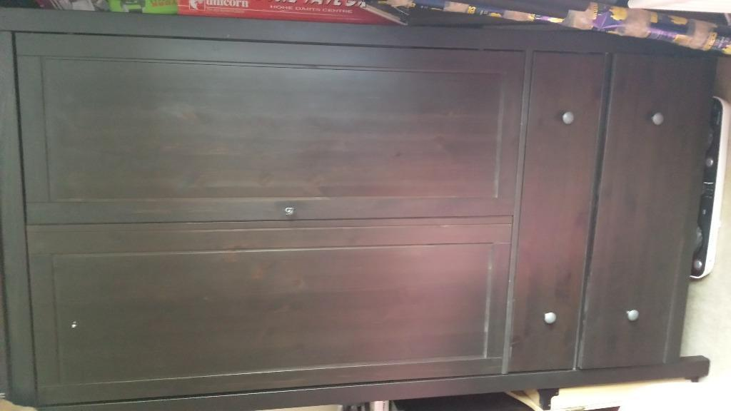 Wardrobe With 2 Drawers And 3 Drawer Cabinet In Bishop