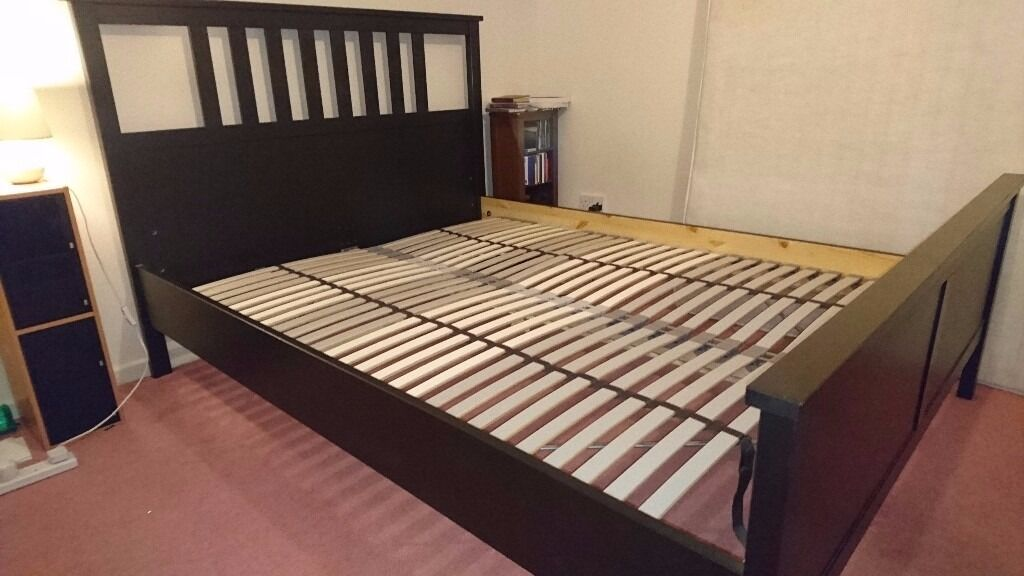 Ikea Bed Slats Beds Bed Frames Ikea Ikea Hemnes King Bed Frame With Lonset Slatted Base - Like