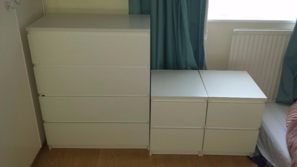 What Does Ikea Sell Moving Must Sell! Ikea Malm White 4 Drawer Chest Of