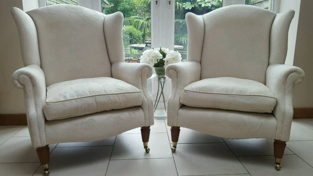 Grey Sofas For Sale Gumtree Pair Of Laura Ashley Southwold Wingback Ashino Natural