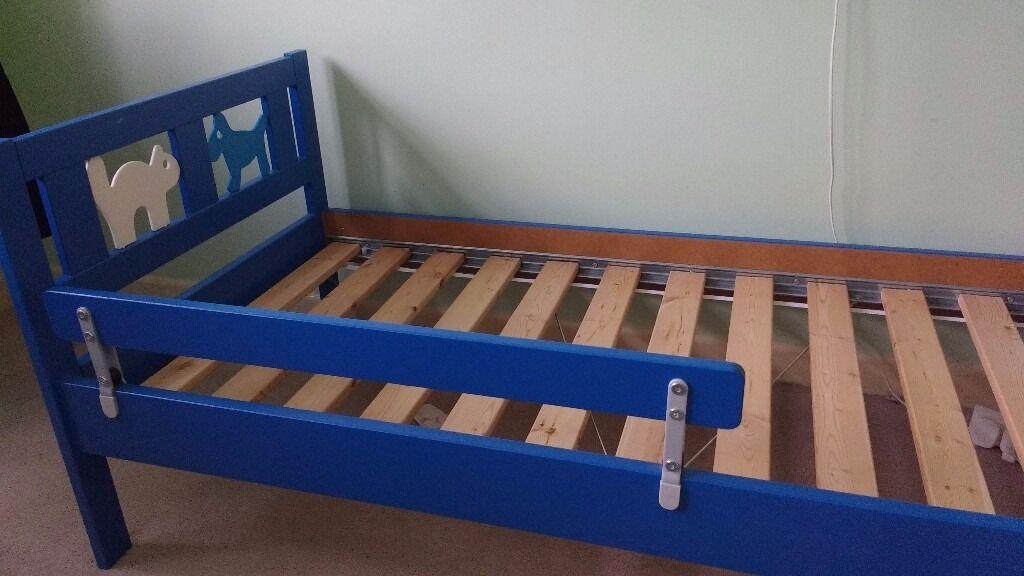 Childs Toddler Bed Ikea Kritter Bed Frame Blue Mattress