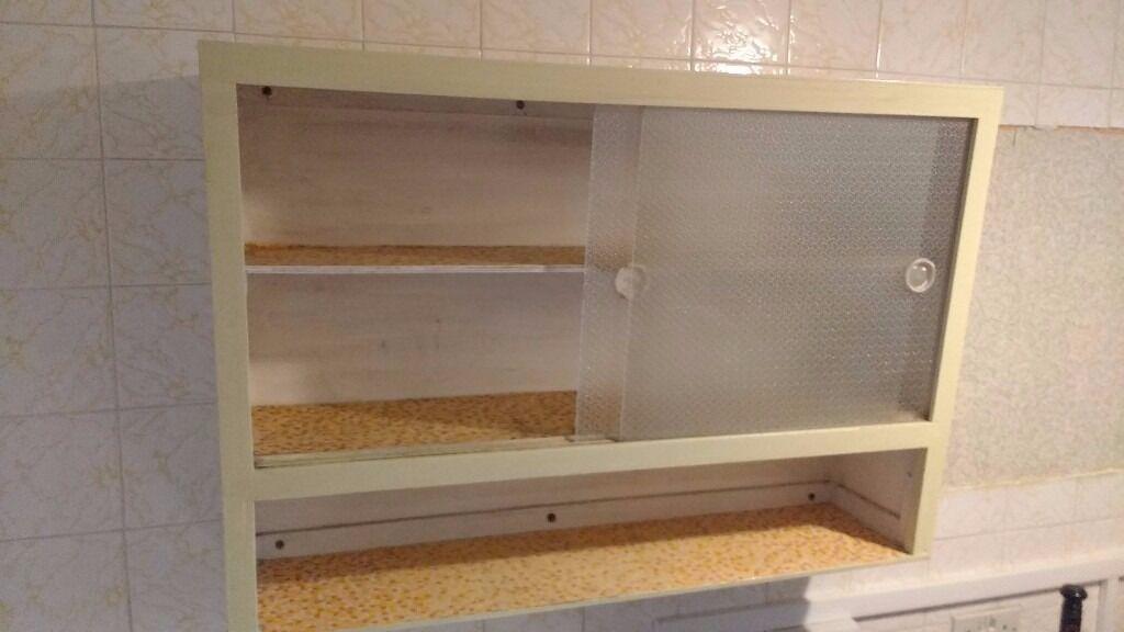 Retro Vintage 1950s 60s Kitchen Wall Cabinet Orginal