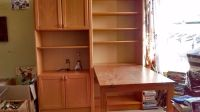 Pine bedroom units x2 - 1 bookcase with drop down table ...