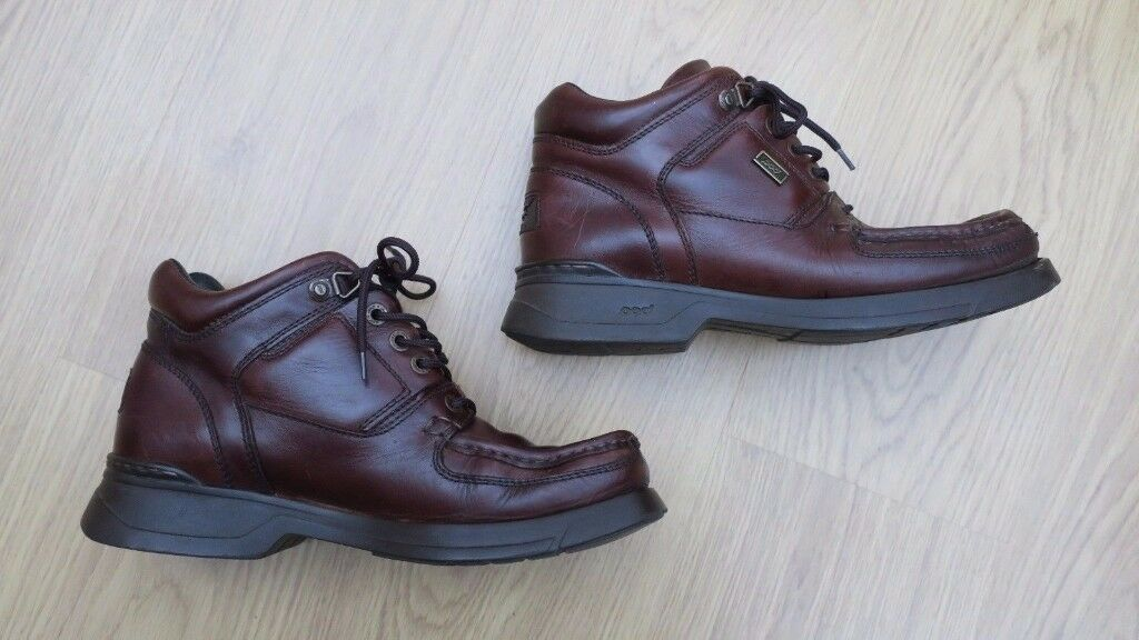 Pod Shoe Work School Boot Size 43 Uk Smooth Leather Brown