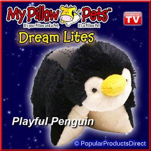 Playful Penguin My Pillow Pets Dream Lites Night Light As