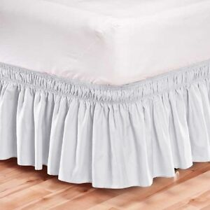 New Madison White Wrap Around Bed Dust Ruffle For Twin Or