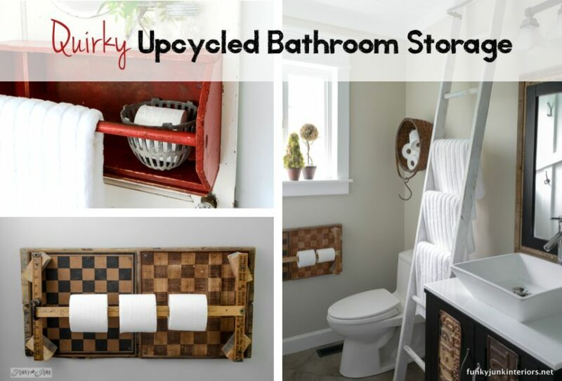 Great Upcycled Bathroom Storage Dkbzawebcom & Upcycled Bathroom Storage - Listitdallas