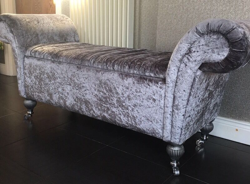 Grey Sofa Gumtree Belfast Chaise Lounge In Crushed Velvet | In Belfast City Centre