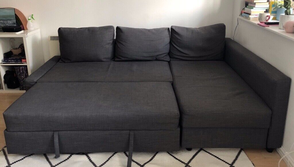 For Sale Ikea Friheten Corner Sofa Bed With Storage Dark