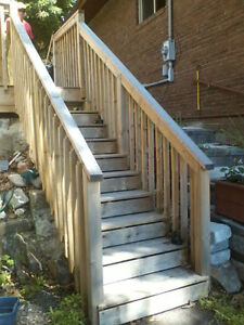 Pre Built Pressure Treated Deck Stairs Decks Fences