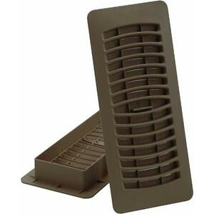 9 Pk Brown 4quot X 12quot Plastic Furnace Heat Floor Register