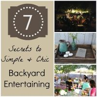 7 Secrets to Simple, Chic Backyard Entertaining | eBay