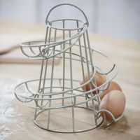 Kitchen Storage Spiral Helter Skelter Egg Holder Stand