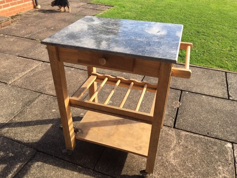 Bbq Table With Granite Top And Storage Draw In