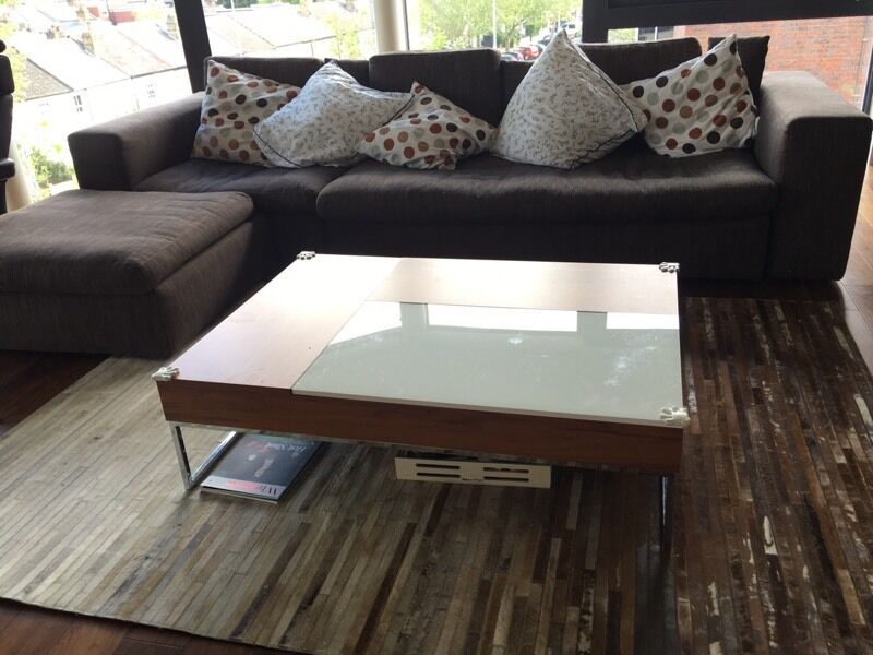 Couchtisch Square Boconcept Chiva White And Walnut Coffee Table | In London