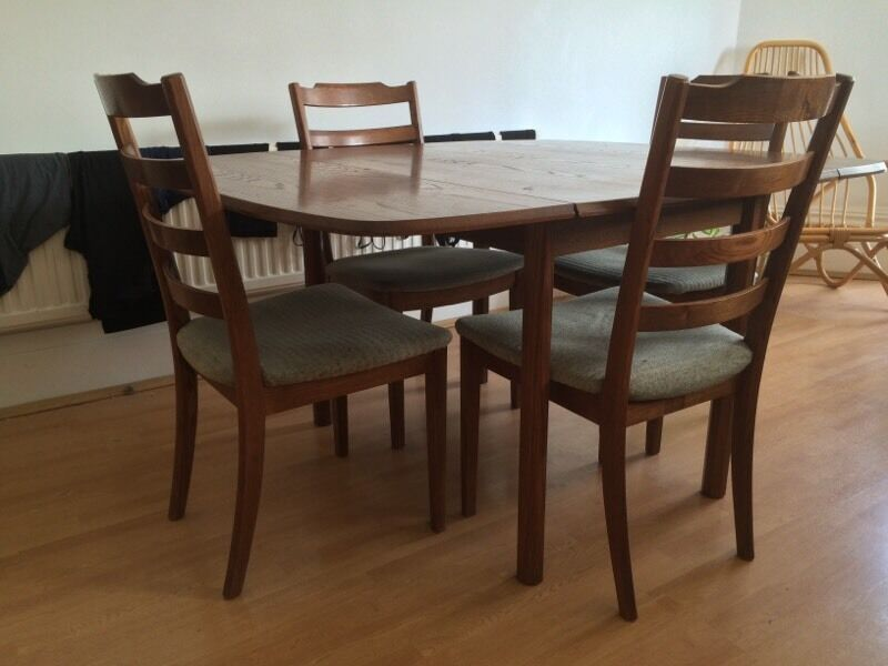 1970s Set Of Four G Plan Dining Chairs Retro Mid