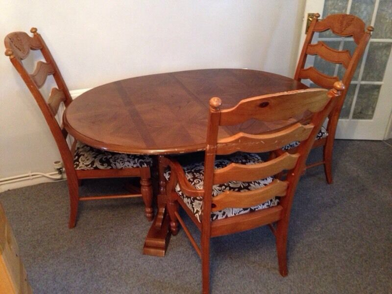6 Seater Extendable Dining Room Table And Chairs Solid