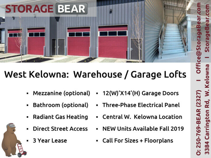 Warehouse Garage Lofts For Rent Commercial Office - Car Rental Penticton