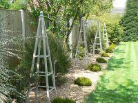 Wooden Obelisk Painted Garden Obelisks Gallery Forged ...