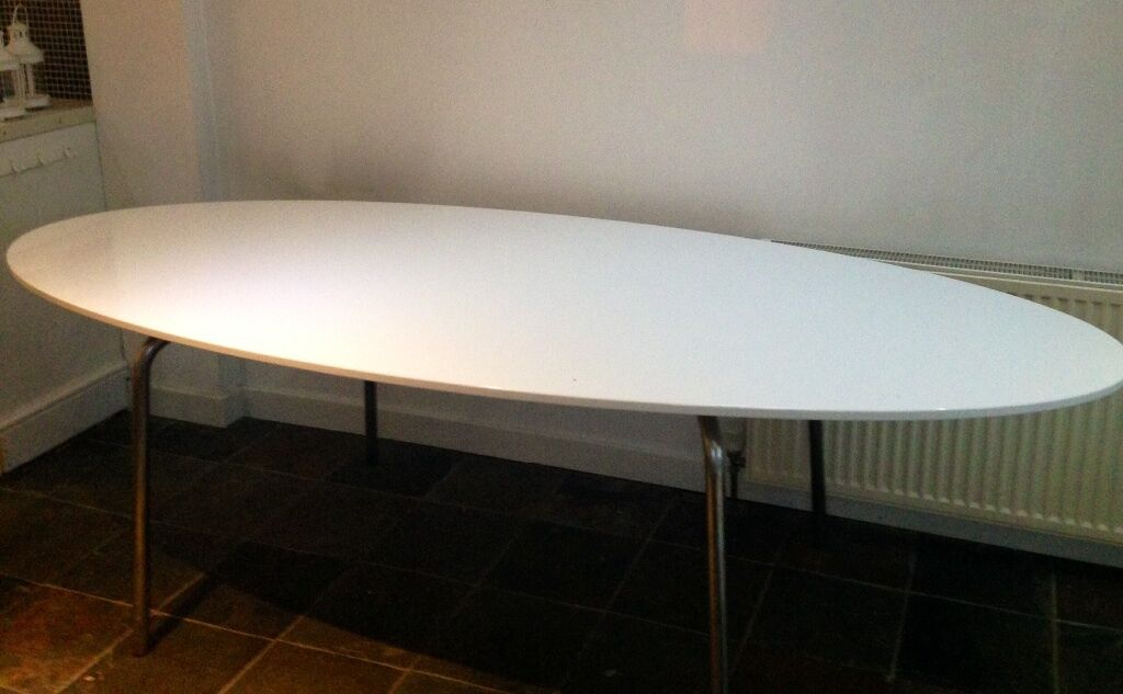 Ikea Drop Leaf Table Ikea Gidea White Gloss Oval Dining Table | In Norwich