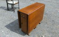 Beautiful Vintage 1940's Drop Leaf Table with Storage | in ...