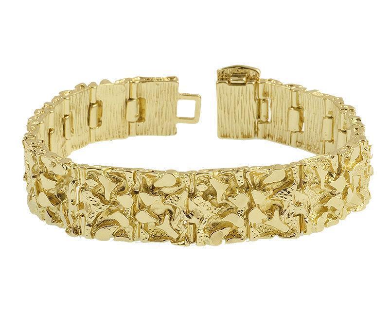 Mens Gold Nugget Bracelet Ebay