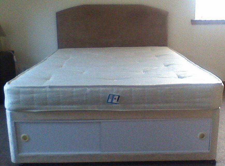 Double Divan Bed With Sliding Door Storage In Inverness