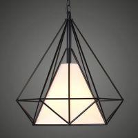 Modern Diamond Shape Pendant Light Fixture Industrial ...