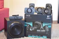 Logitech Z906 5.1 Speakers + wall mount + extra cables ...