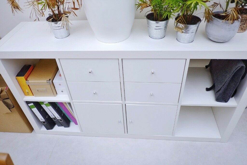 Ikea Expedit Now Kallax Shelf In White Incl Drawers