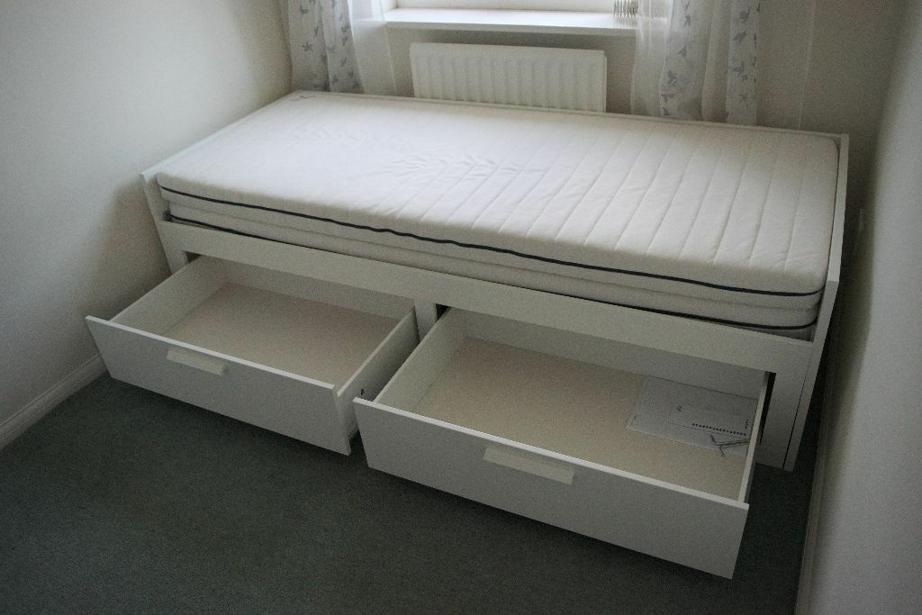 Ikea Bed Brimnes Ikea Brimnes Day Bed With 2 Drawers And 2 Mattresses In