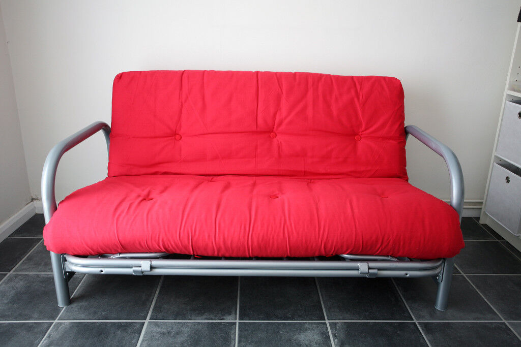 Argos Quot Mexico Quot Double Metal Futon Sofa Bed Poppy Red - Sofa Bed Argos London