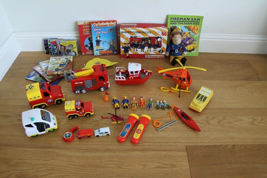 Baby Pram Edinburgh Fireman Sam Vehicle Figures Jupiter Titan Sea Rescue