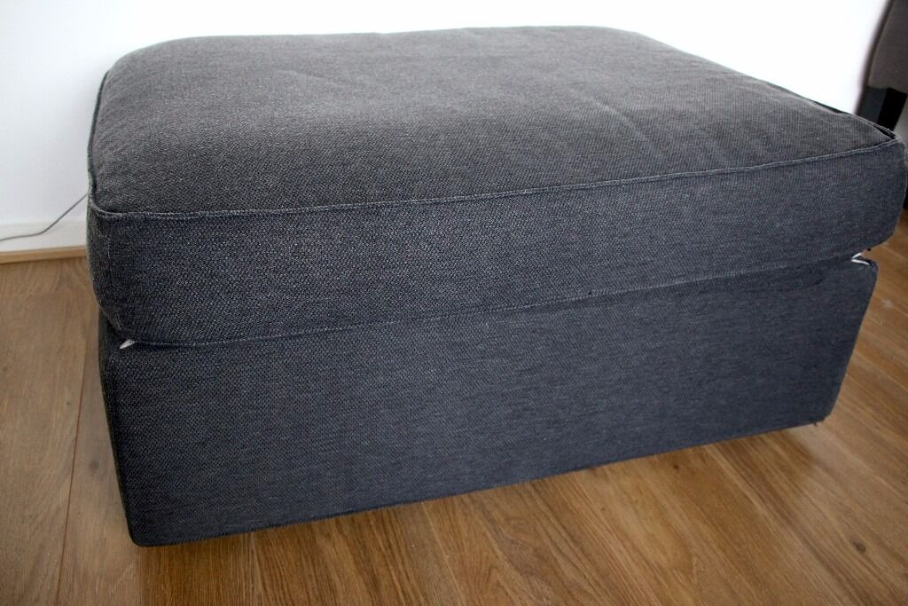 Sofas On Gumtree London Large Dark Grey Ikea Footstool / Ottoman / Pouffe With
