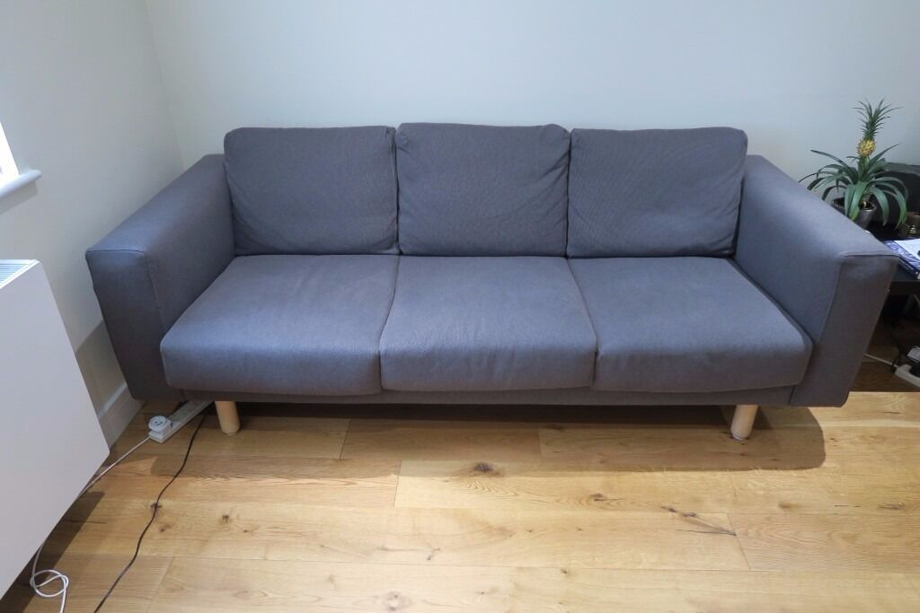 Ikea Sofa 595 Three 3 Seat Ikea Norsborg Dark Grey Sofa - Nearly New