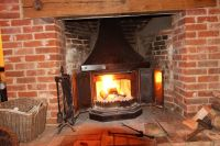 Large DOVRE 2300CB WOOD BURNING STOVE FIREPLACE - GC - UK ...