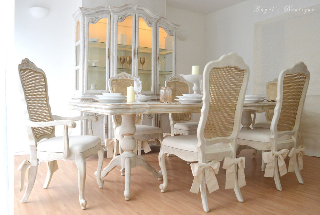 Unique Beautiful French Antique Shabby Chic Dining