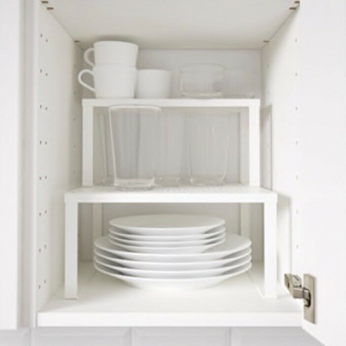 New Ikea Locations Ikea White Metal Shelves / Kitchen Stand | In Guildford