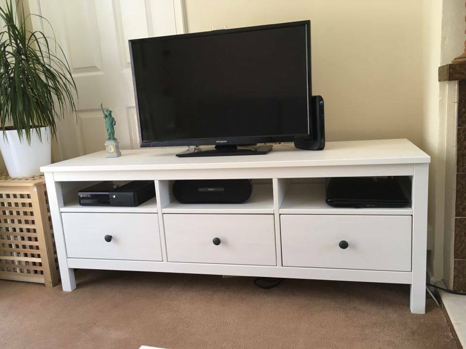 Hemnes Tv Stand Ikea Hemnes Tv Bench/ Tv Stand/ Tv Unit White | In